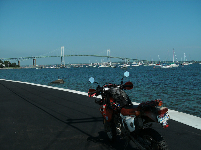 """from the<br /> """"Recent 'thrill and chill' dual-sport ride in Westgreenwich, R.I. Some of myself with my Honda and my friend, Pete Szala, and his KTM enjoying a perfect weekend. - Glenn Giammalvo of Fairhaven, Mass."""