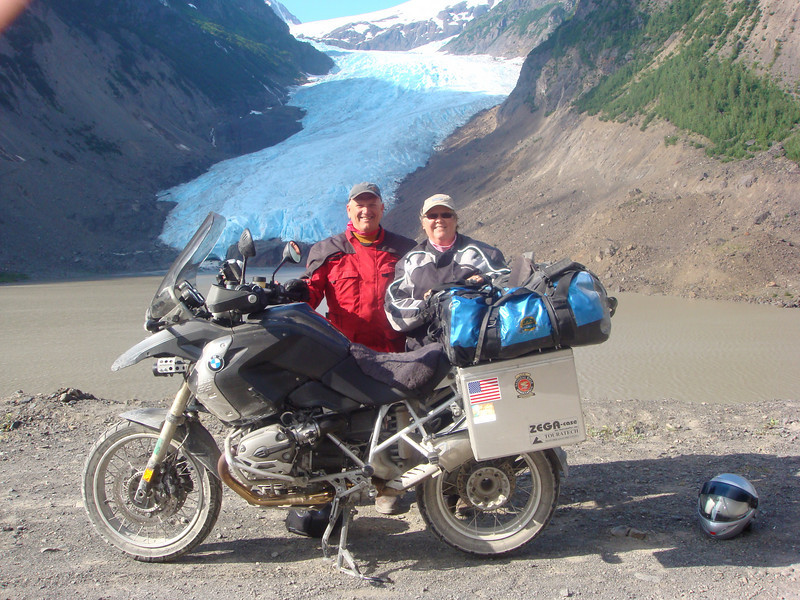 """Mike and Deb Herr on road trip from Lititz, Pa. to Anchorage, Alaska. Photo taken at Stewart, BC, Canada and Hyder, Alaska."" - Mike Herr of Lititz, Pa."