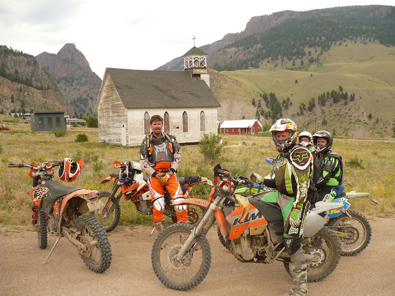 Greg Luther of Norcross, Ga., and friends near Creede, Colo.