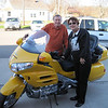Frank and Roz Lovejoy of Sebring, Fla., and his wife with their 2009 Honda Gold Wing.