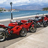 """""""A picture of a group of Ducati from the Greek Ducati Club of Athens. They came to visit me at my parents home town of Galaxidi (in Greece) this summer. The Athens' club made me a lifelong member."""" - Peter Calles of Bethesda, Md."""