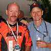Bradley Love and Kevin Schwantz at the Indianapolis Moto GP. - Bradley Love of Noblesville, Ind.