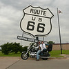 """""""At the Route 66 Museum in Sayre, Okla."""" - David and  Melody Mills of Rogers, Ark."""