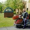 """""""Me and my motorcycle taken in June of 1998 when the AMA was still headquartered in Westerville, Ohio. - David Allen of San Marcos, Texas."""