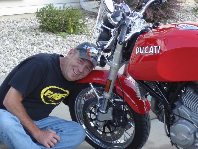 Steve Stegle and his 2007 GT1000 Ducati. - Lori Stegle