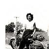 Gloria Tramontin Struck on her new 1950 Harley-Davidson. -  Lori DeSilva of Clifton, N.J.