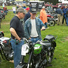 """""""Richard Colahan, Lifetime AMA member, talks to a man from Locust Grove Restorations in Bainbridge, Pa., about Richards 1949 BSA.Behind them is a pair of BSA Goldstar Clubmans (1953 I believe, only 200 serial numbers apart), one belonging to Richard and one to Locust Grove Restoration.Taken at the British & European Classic Motorcycle Day at Bulter's Orchard in Maryland."""" - Mike Horan of Newtown, Pa."""