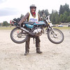 """""""My first Moto Giro, September 2008, in Vermont on my 1972 Suzuki TS50. I won the 65cc class. I was the only bike in my class to finish!  <a href=""""http://www.motogiro-usa.org"""">http://www.motogiro-usa.org</a> for more info."""" - Robert Bendix of Brookline, N.H."""