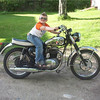 """""""My grandson, Dana, showed up at my home for a visit and I thought what a great picture that would be on the BSA. I'm a BMW motorcycle tech in Falmouth, Maine, and own BMW bikes but I enjoy riding this one the best."""" - Fred Doughty."""