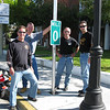 """""""My two brothers and I at the 0 mile marker in Key West, Fla. I rode from Pennsylvania, met up with my brothers in Melbourne, Fla., and we three, along with my brother's friend, Ron Tenhaken, went to Key West. I totaled 3,400 miles."""" - Gary Wassel"""