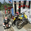 """A photo from my solo motorcycle trip -- Ride for the Children -- where I raised awareness and funds to support Montagnard orphans in Kontum, Vietnam. I'm with Ng tien Quyen, a former motocross champion of Vietnam who also rode on the international circuit. We've just spent the day motocrossing in the Cau Cam Ly Valley (Red Valley) outside Da Lat, Vietnam. - Rev. Bill Sladek, Windsor, Colo."