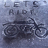 """""""A little moto art on a frozen table during a camping trip to Stonyford, Calif."""" - Mike Romano of San Jose, Calif."""