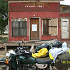 """""""A detour off the Trans America Trail to Pikes Peak, my 16-year-old son, Ian, is sleeping in the sidecar. It was raining earlier, I stopped to remove rain gear."""" - Jeff Cottrill of Cambridge, Ohio."""