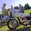 Judges talking to the owner of a John Player Norton in the Meadow Brook Concours d'Elegance in Rochester, Mich. - Steven Hauptman of Southfield, Mich.