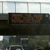"""""""UP to the state of California for using the highway safety signs to remind car drivers to 'Share the road, look twice for motorcyclists.' DOWN to the people of San Diego who saw the signs and denounced motorcyclists who split lanes during heavy traffic."""" - John McCoy of Soquel, Calif."""