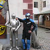 """""""I got this picture of myself last month with one of the locals in Krumholz, Czech Republic -- a beautiful old fortress town just down the road from Budweis -- during an Edelweiss tour. He was agreeable but not very talkative."""" - Bob Fiesser of Highlands Ranch, Colo."""