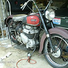 """Charles E. """"Pete"""" Wickham Jr. of Thornville, Ohio, shared his """"before"""" and """"after"""" pics of his rare 1948 Ariel Square 4G."""