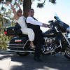 """""""Trisha and I got married on Lake Tahoe on 9/26/2009. After the ceremony several of our group requested a photo on our bike to send to the club. We are active members of STAR chapter 306 in Salem, OR.  Just goes to show that motorcyclying is even cool at weddings. - Steven Smith of Lebanon, Ore."""