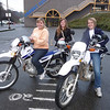 """""""Thought I would send a photo of our three daughters. They have just finished taking the riding portion of their Washington State motorcycle endorsement test.    Britney, 22, scored 96 percent, Cortney, 20, scored 100 percent and Blaire, 18, scored 100 percent. Their scores were the highest scores for the day. All three girls have been riding since age 6."""" - Brown Maloney of Sequim, Wash."""
