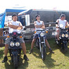 Durty Dabber members Tommy, Steve, and Lynn posing at AMA Vintage Motorcycle Days at the Mid-Ohio Sports Car Course in Lexington, Ohio. - Tommy Wise of Mill Hall, Pa.