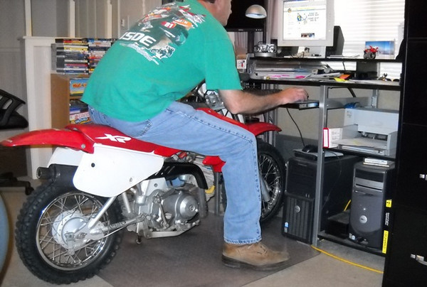 """""""Ride to Work Day is difficult for us that work from home offices, so a little improvising is required. :)."""" - Scott Jacobs"""