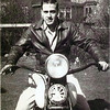 """""""A a photo of my Dad, Joe McGuire, on his bike taken in Kensington, N.Y., around 1945??? I always thought it was an Indian, but am not sure. Isn't he a cutie!"""" - Carol Reynolds."""