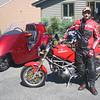 2008 Stallion Trike, 1995 Ducati M-900. - Eddie Prince.