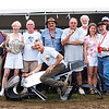 A group picture taken at the Mid-Ohio Sports Car Course in Lexington, Ohio, at AMA Vintage Motorcycle Days. - Peter Calles of Bethesda,Md.