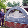 David Allen of San Marcos, Texas, at the AMA Motorcycle Hall of Fame Museum in July of 2001. - David Allen