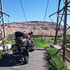 """""""My annual bike trip this summer included the Santa Fe Trail, over a dozen National Parks and 15 or so National Monuments. Here's an early morning stop at the historic Dewey Bridge along the Colorado River twenty some miles northeast of Moab after a night of road side camping just few miles back. Obviously there is no historic bridge anymore but the new one can be seen in the left background."""" - Scott Wallace of Libertyville, Ill."""