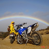 """""""Yahoo under the rainbow. Picture taken in San Bernardino National Forest behind Lake Arrowhead, Calif. Great day for a ride."""" - Dave O. of Yorba Linda, Calif."""