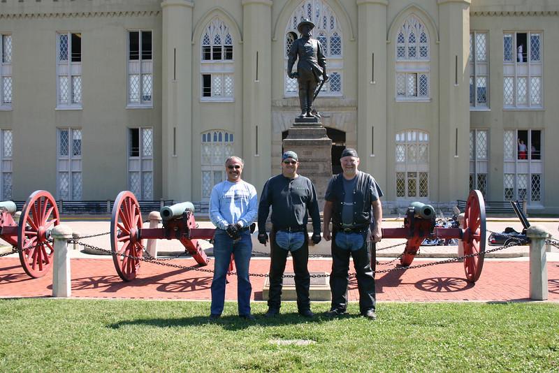 Al, Jeff and Owen Virginia Military Institute. - Al Hawes of Chesterfield Va.
