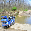"""""""Should I or shouldn't I? I didn't, the water was too deep. This was taken during the annual Moonshine ride in Moonshine, Ill., in April of this year. Moonshine has a population of 2! Yes, 2."""" - Steve Bodie of Monee, Ill."""