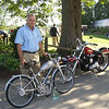 """""""Me with my 1951 Ducati Cucciolo and next to me is my 1972 Harley-Davidson Sportster. My Ducati took first place in it's class."""" - Peter Calles of Bethesda, Md."""