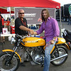 """""""A picture of me and """"Fabio"""" ( he's the one on the right) sitting on my 1973 Ducati 750 Sport. It was taken in August 2007 at Laguna Seca where I was one of the finalist at the Ducati superbike concorso."""" - Peter Calles of Bethesda, Md."""