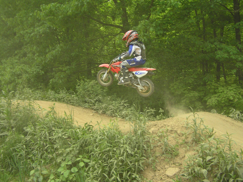 """""""My 7-year-old son, Nick, on his CRF 50 at Creekside Motocross in West Newton Pa."""" - John Gilmore of Oakdale, Pa."""