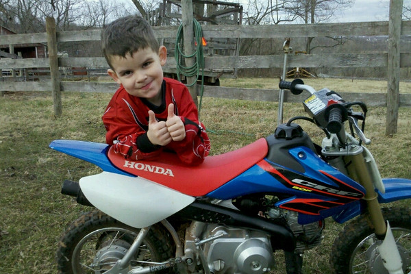 """""""His first good day of riding this year."""" - Michael McClane."""