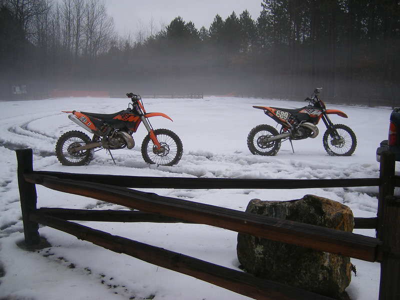 """""""40 degrees and foggy:  New Year's Eve 2010, White Cloud, Mich. The best Last Ride of the Year!"""" - Annah-Nataliye Marchant of Grand Rapids, Mich."""