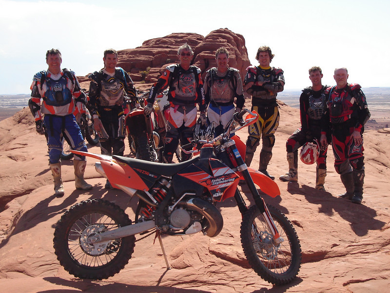 """A ride we took in September 08 in the Green River, Utah, area. Left to right are:  Jim (me), Drew, Dave, Dan, Mike, Leif and Russ."" - Jim Siffring of Centennial, Colo."