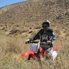 """My wife Tina on her CRF150F at the Jawbone Canyon, Calif, trails."" - Mark Miller of Yucca Valley, Calif."