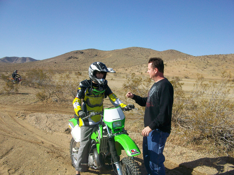 """""""My friend, Chuck McCleavy, teaches his son, Cameron, how to ride on a first out to Stoddard Wells, Calif."""" - Mark Oster of Fountain Valley, Calif."""