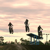 """The warm up lap at PAX TRAX in Bunnell, Fla. -  KDAWG (ME)  on left, GMAN (center) and BV (right)."" - Kevin Buth of Heathrow, Fla."