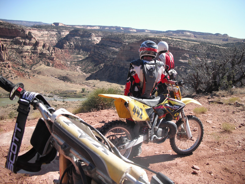 """John Kraeger (442) and my friend, Silas Murch, and nephew Mike Kraeger (taking the photo) on a four-day ride at Rabbit Valley, Colo."""" - John Kraeger of Stanley, N.Y."""