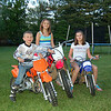 """Kids just got done riding there bikes around the backyard on a warm summer night. My son and I both race hare scrambles."" - Gerald Peklak"