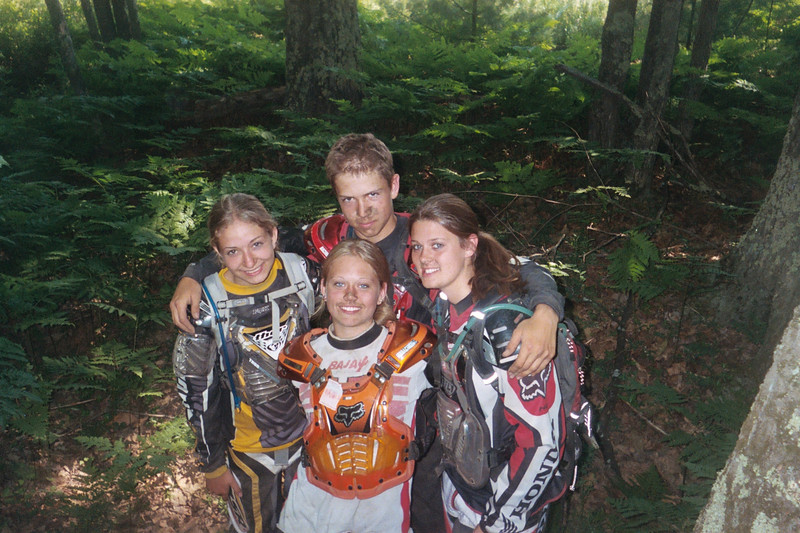 """""""Danielle Dunbar (center) and friends. Michigan Cycle<br /> Conservation Club Kids Camp."""" - Tammy Shire"""