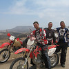 Father and sons: John Bolkema Sr., John Jr. and Joe riding Baja, Mexico.