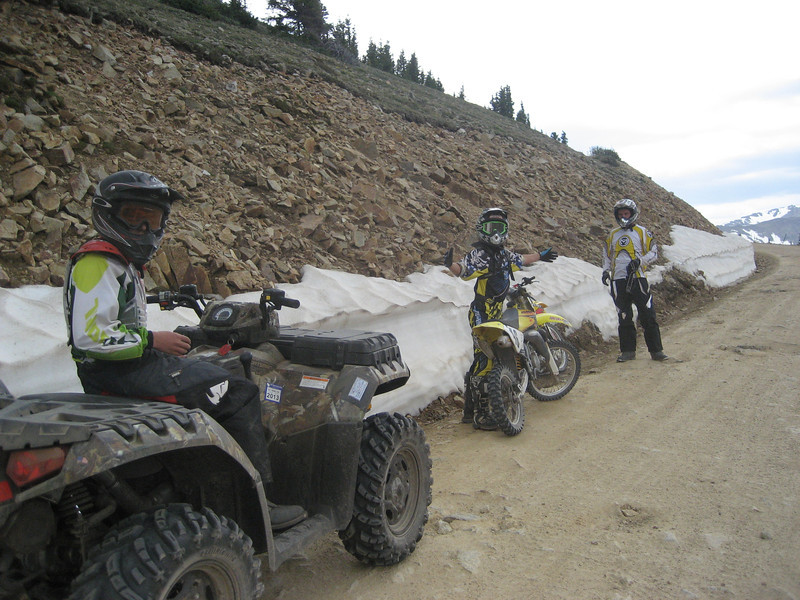 """My boys -- Carter (ATV) and Cole (RM 85) -- and I (RM 250) riding in the Taylor Park area of Colorado a couple weeks ago."" - Dan Thomson."