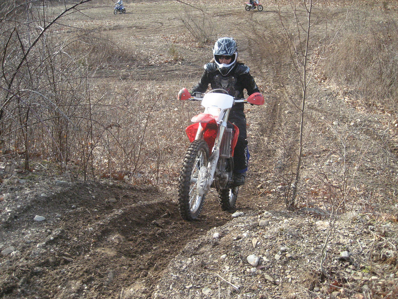 """""""Me, Jan Russo, age 38, on CRF250X do my version of a hill climb."""" - Jan Russo of Guilford, Conn."""