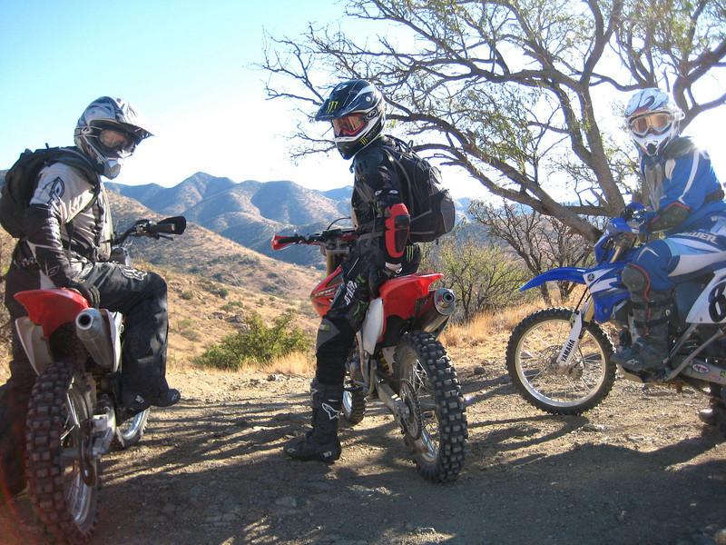Chris Foster, Todd Martin and Jon Steffen in southern Arizona. - Chris Foster of Vail, Ariz.
