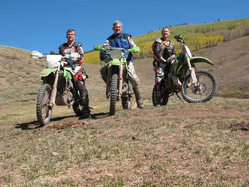 Casey Colbert, Tim Lind and Dennis Larratt enjoy the fall colors in Taylor Park, Colo. - Casey Colbert of Loveland, Colo.